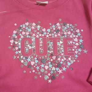Gymboree Shirts & Tops - Gymboree baby girl fleece lined sweatshirt